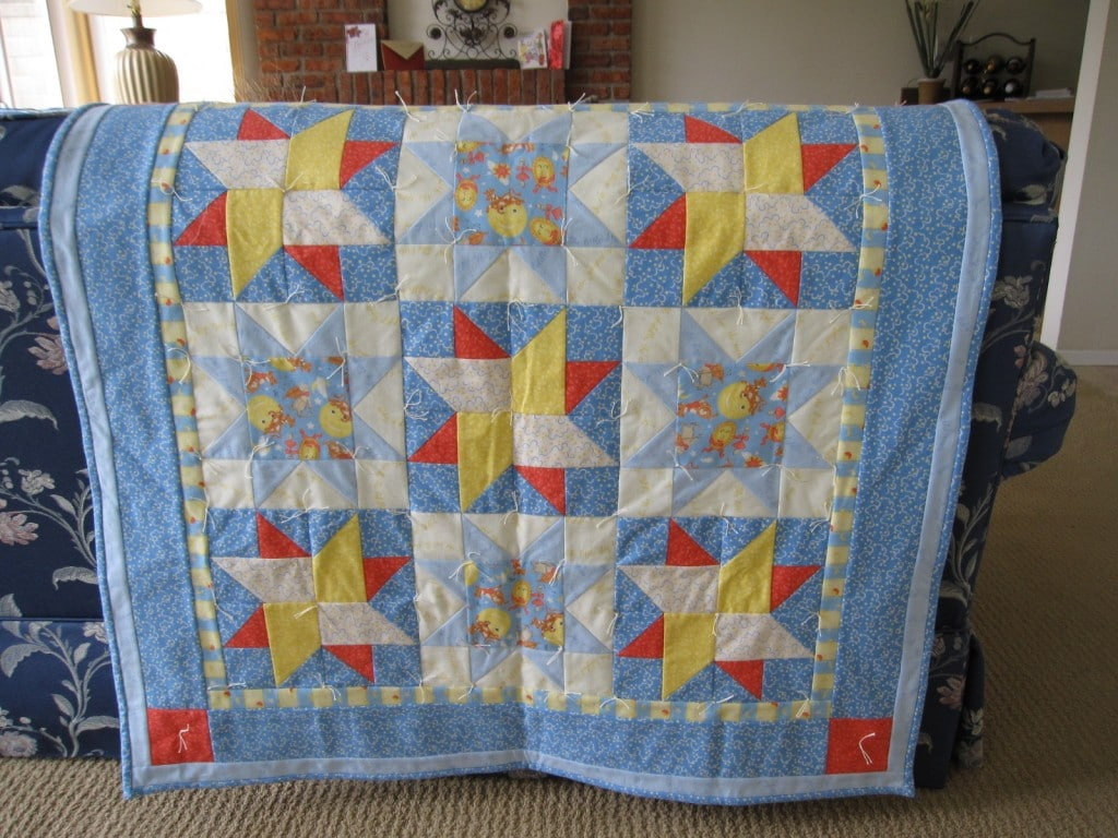 Blanket for my grandson Leo to use while he is in California.