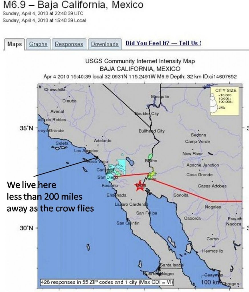 Earthquake Mexicali Mexico 4th April 2010