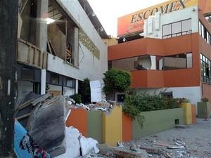 Escomex School in Mexicali Mexico Earthquake 4th April 2010