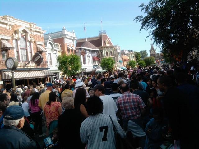 Evacuating Disneyland 4th April 2010