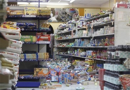 Grocery store downtown Calexico California Earthquake 4th April 2010