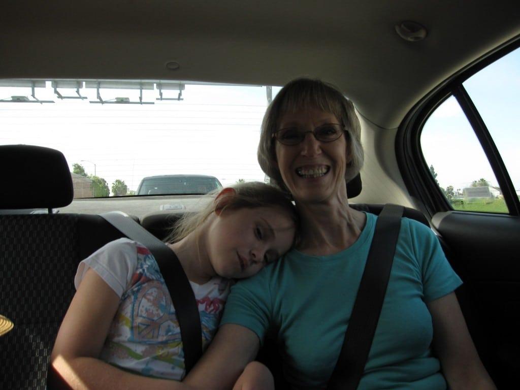 Asleep on Nana's shoulder