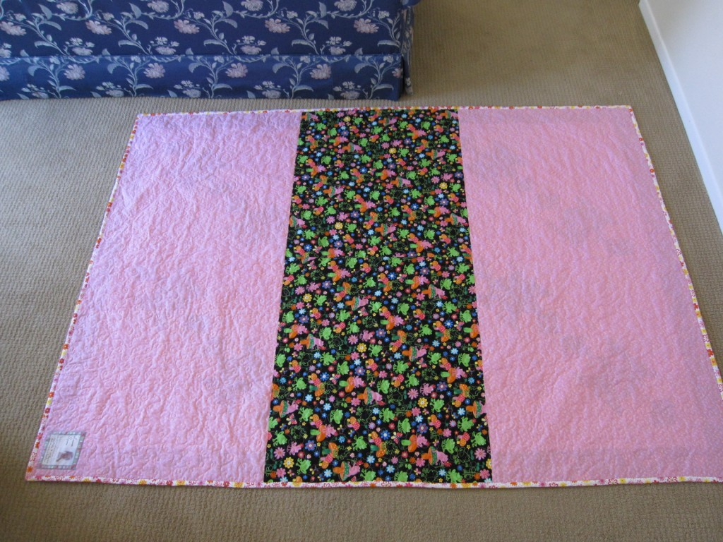 Back of Laurens Quilt