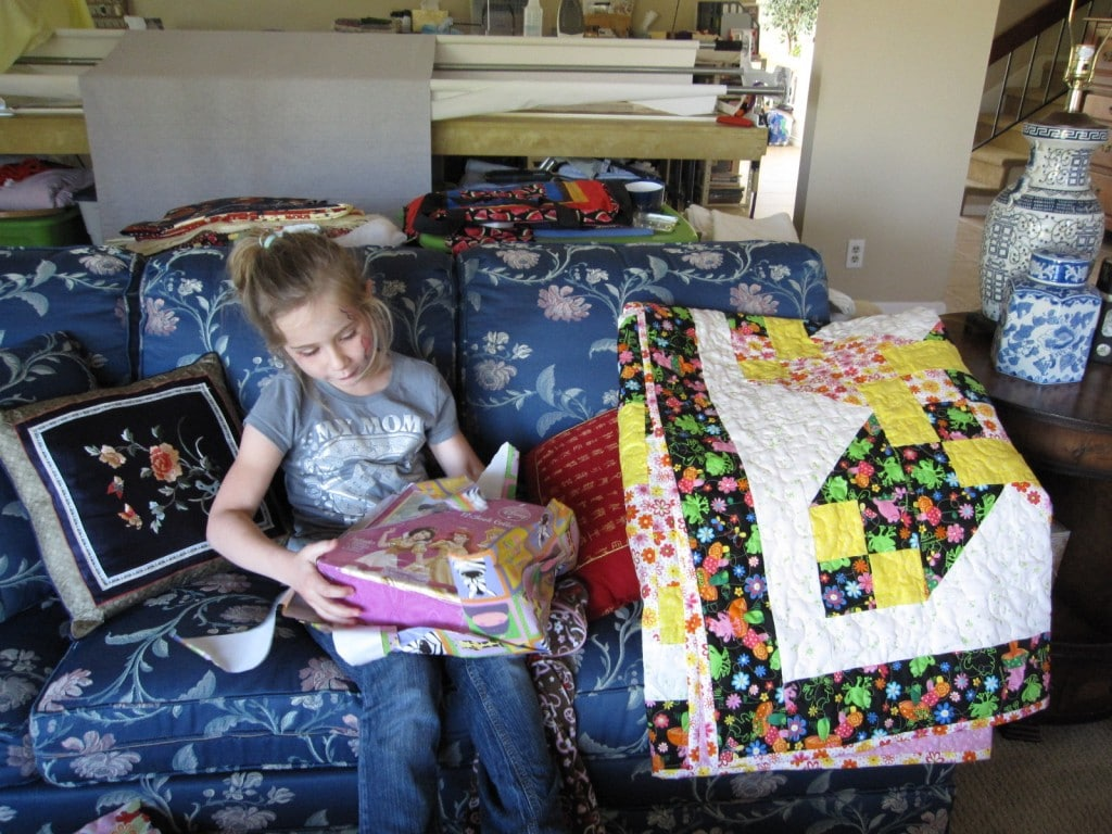 Books and a quilt to cuddle under