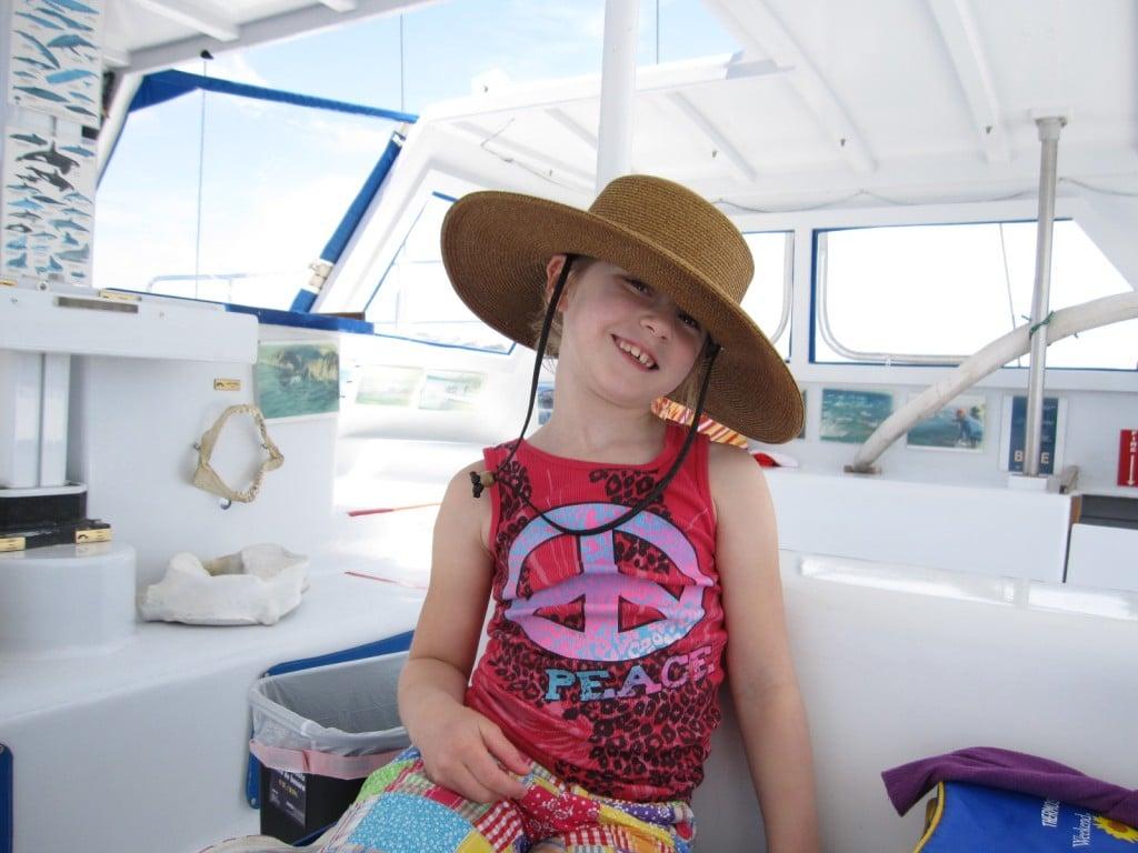 Lauren in her nana's hat