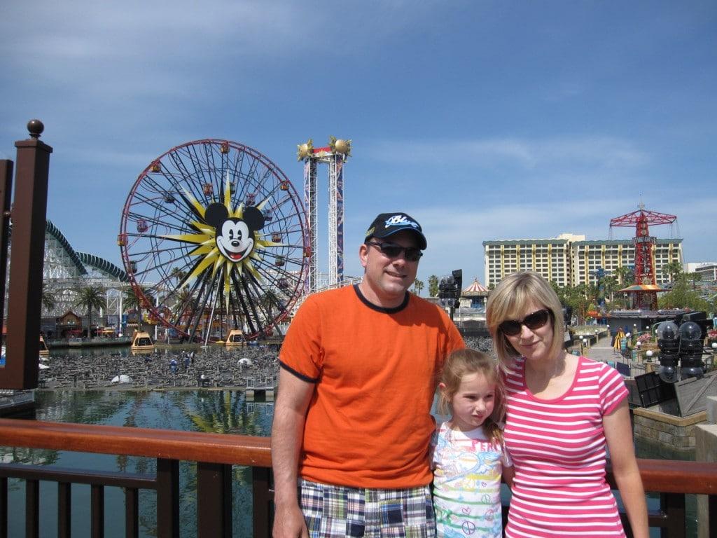 Michael, Lauren and Rosanne at California Adventure Park