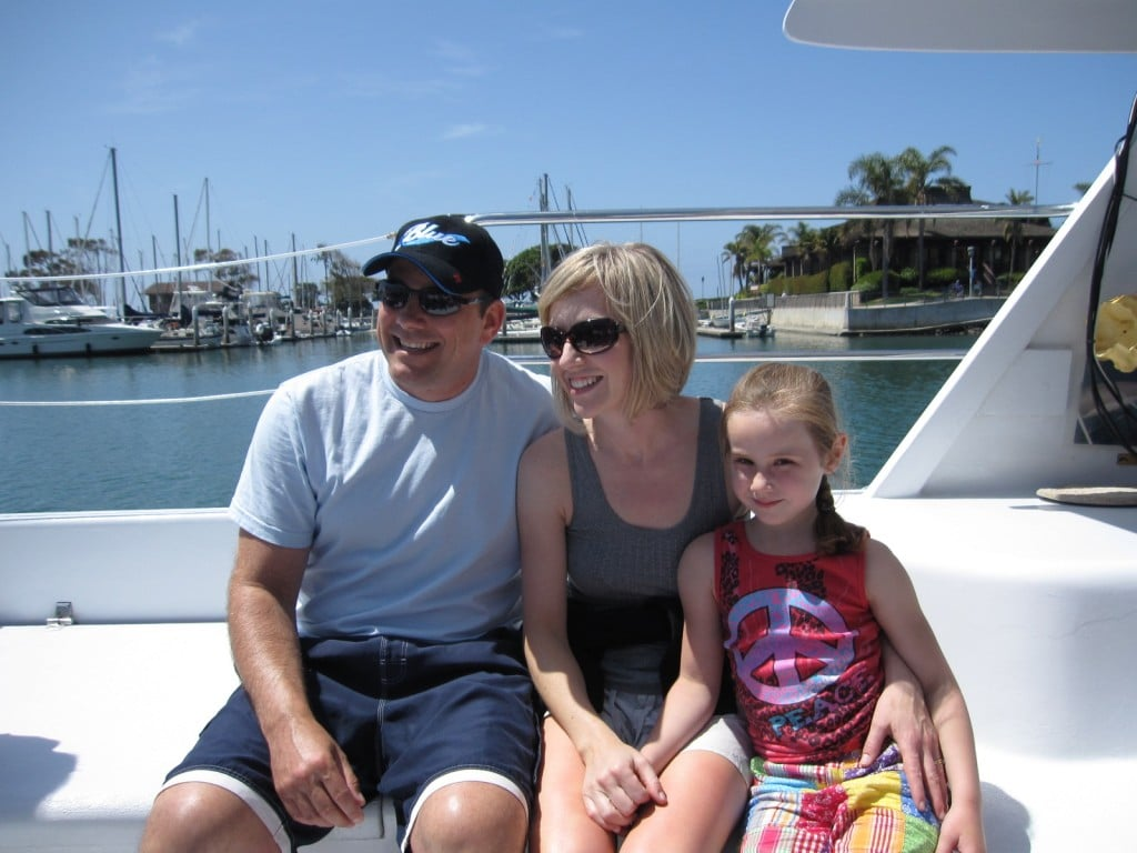Michael, Rosanne and Lauren Whale Watching