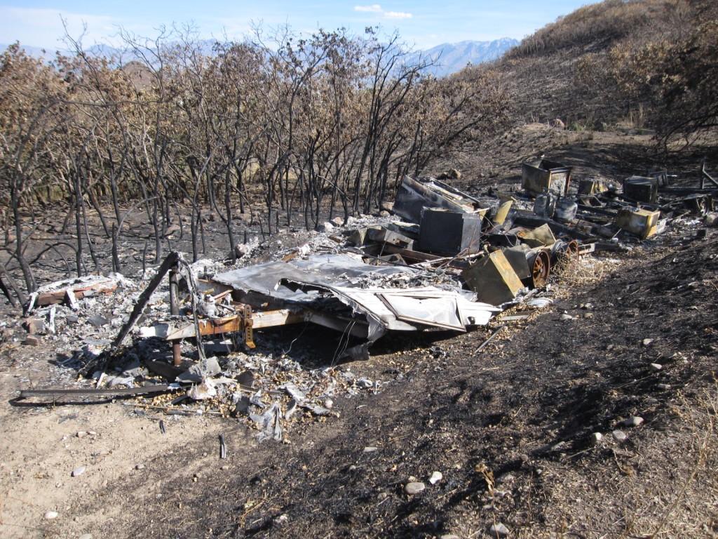 Fire in Herriman, Trailer Remains