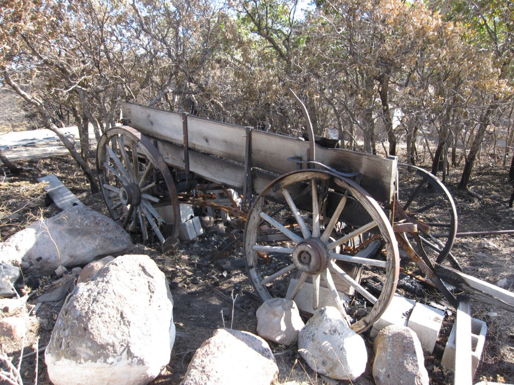 The other side of the wagon after the fire in Herriman