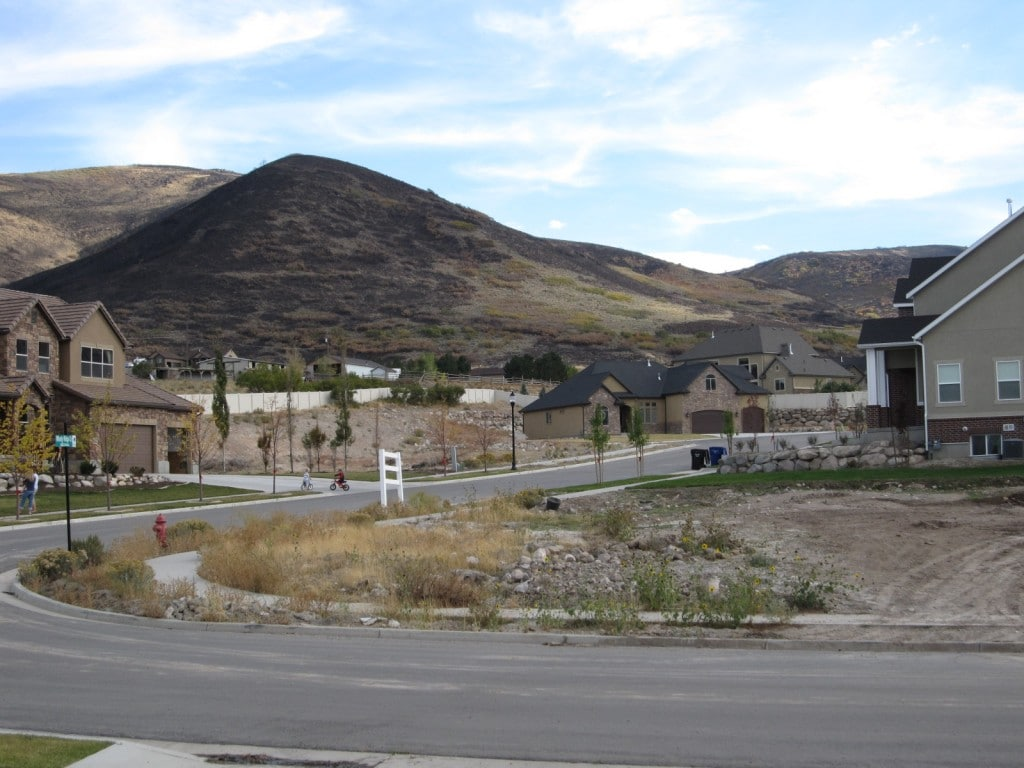 Picture of the results of the Fire in Herriman