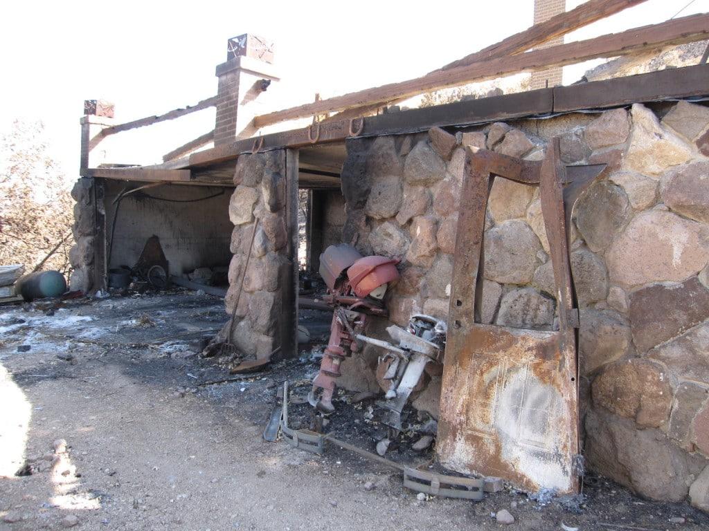 Fire in Herriman, Garage Destroyed