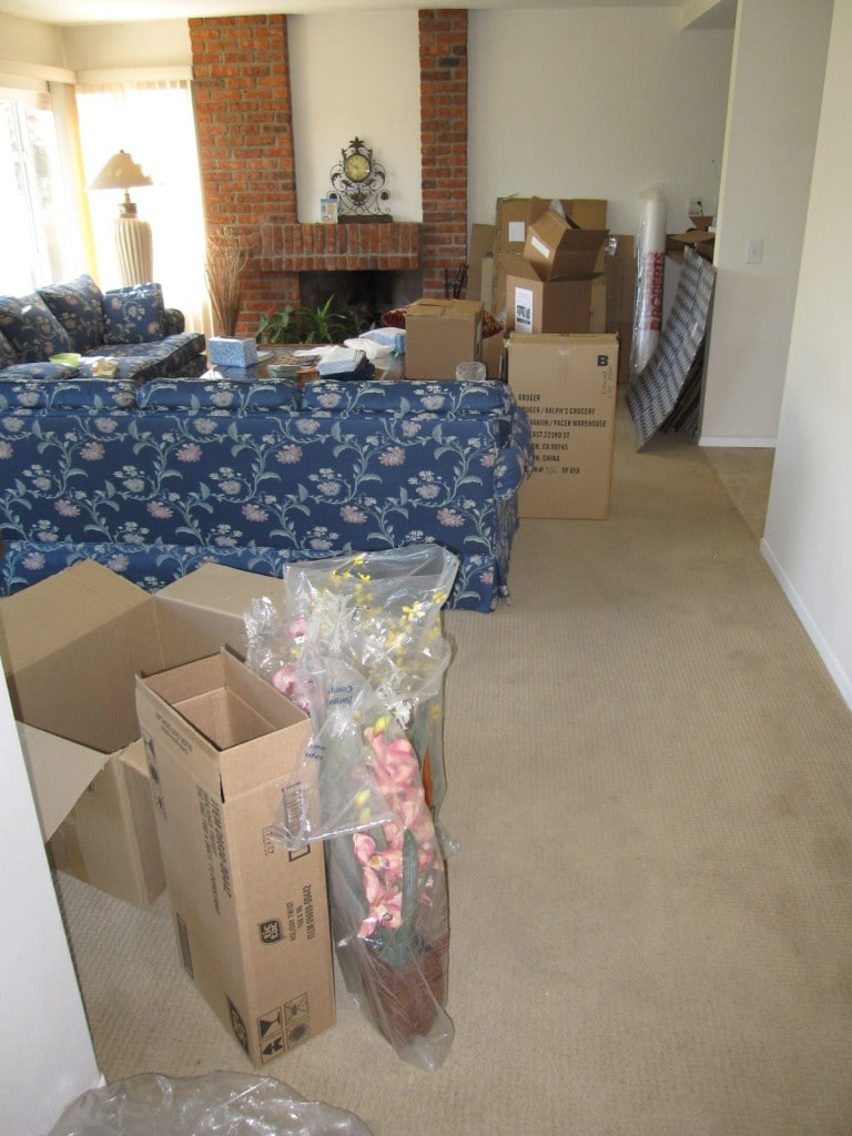 2010 Nov packing Alisal Ave and living in a mess
