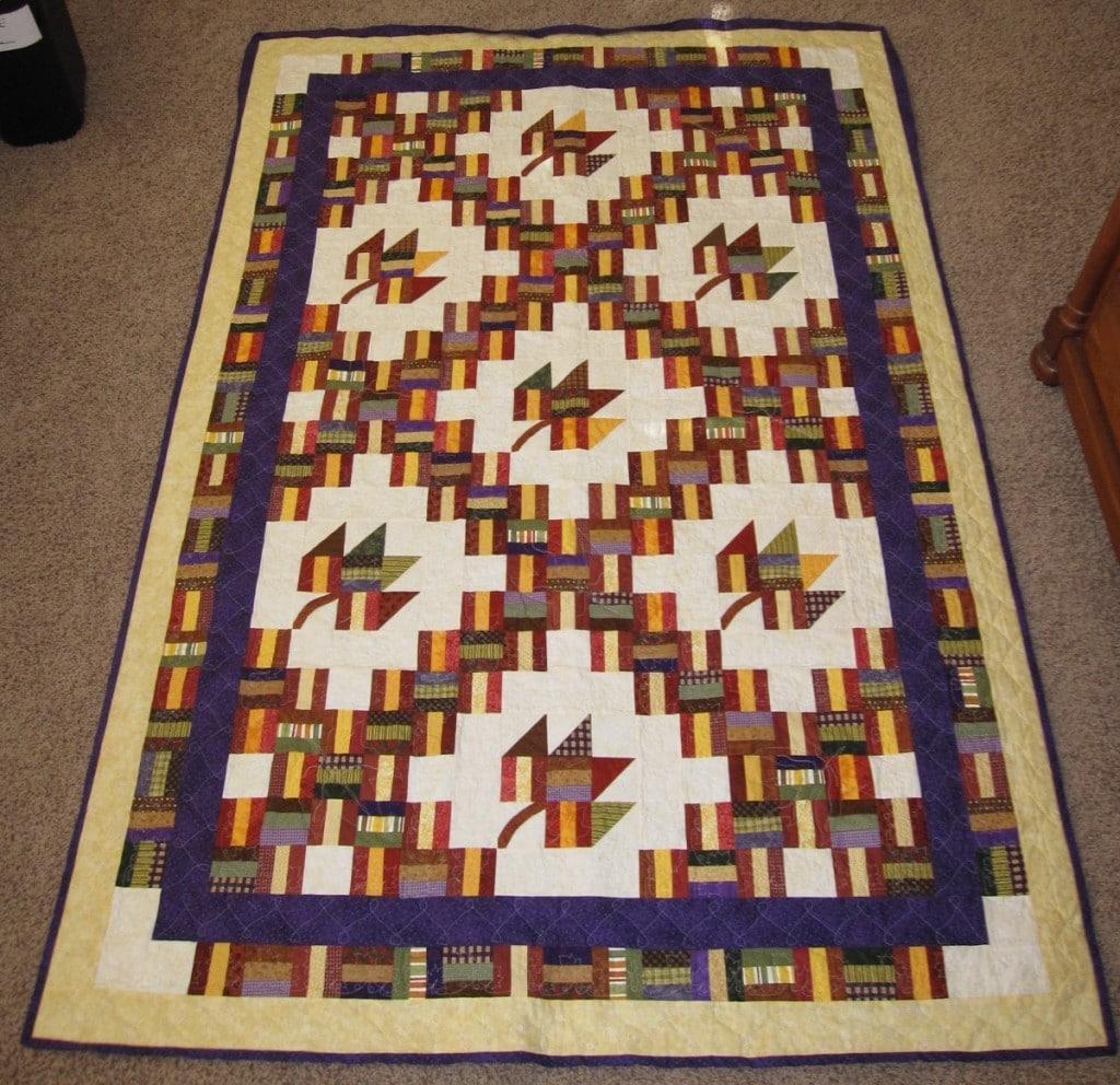 Sonias finished quilt Dec 2010