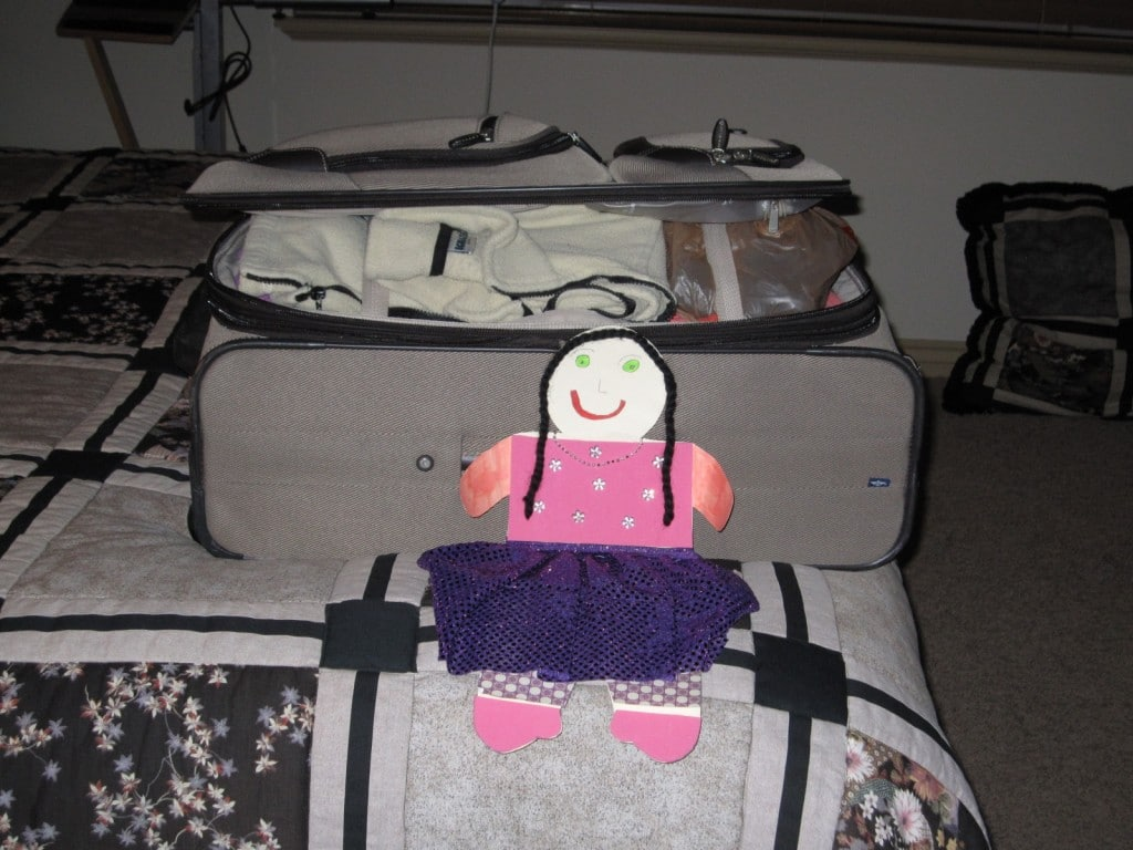 Me with Nana's suitcase